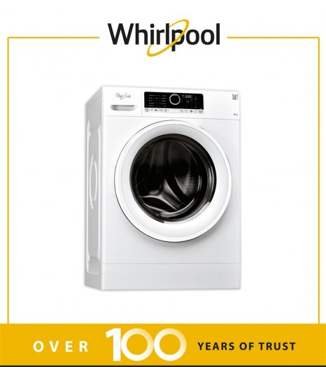 Whirlpool Washing machine (8)KG, (14)P, 6ᵀᴴ Sense , Silver