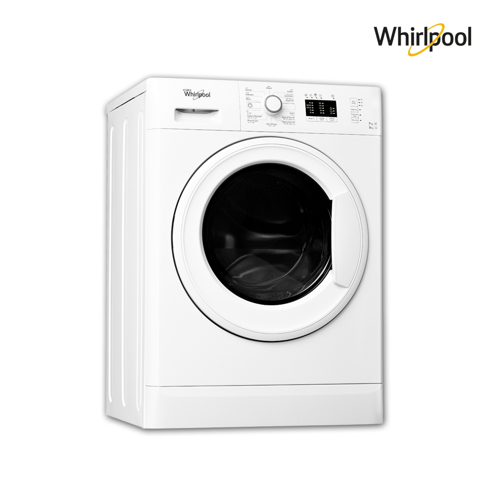 Whirlpool Washing Machine (7) Kg , Dryer capacity (5)Kg , White