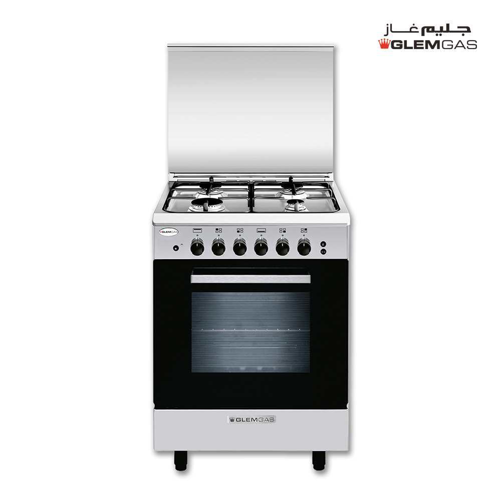 Glem Gas Cooker (50X53), Full Safety, Steel