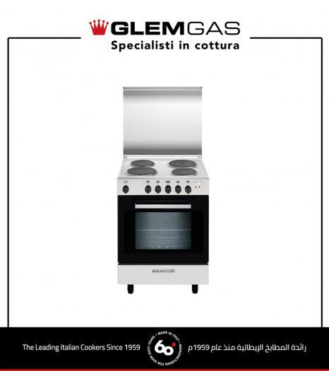Electric Glem Gas Cooker 60X60, Steel