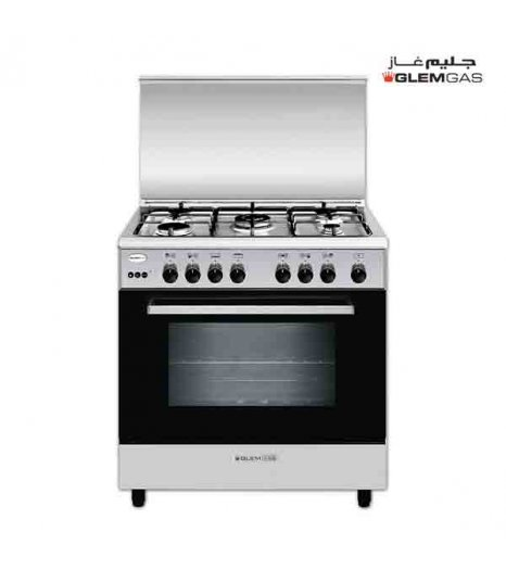 Glem Gas Cooker (50X80), Full Safety, Steel