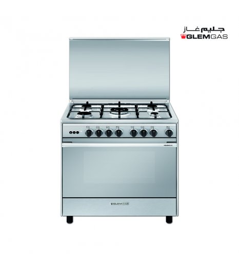 Glem Gas Cooker (60X80), Full Safety, Steel
