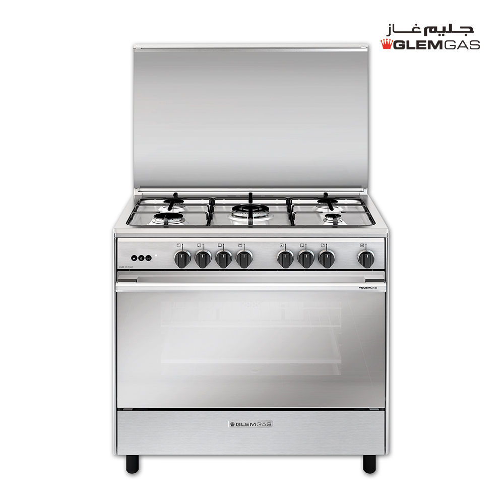 Glem Gas Cooker (60X90), Full Safety, Steel