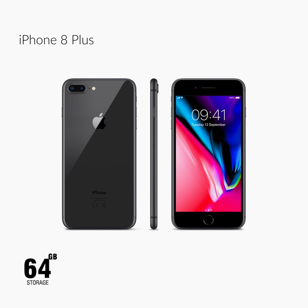 Apple iPhone 8 Plus, LTE, 5.5 Inch, 64GB, Space Gray